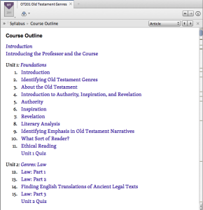 Logos workbook outline